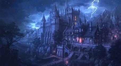 HD wallpaper: castle fantasy art artwork spooky Gothic architecture Wallpaper Flare