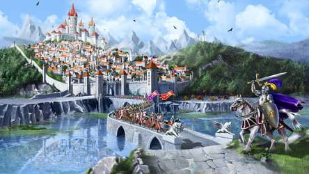 HD wallpaper: war castles tower knights wall kingdom fantasy art horses medieval 1920x1080 Animals Horses HD Art Wallpaper Flare