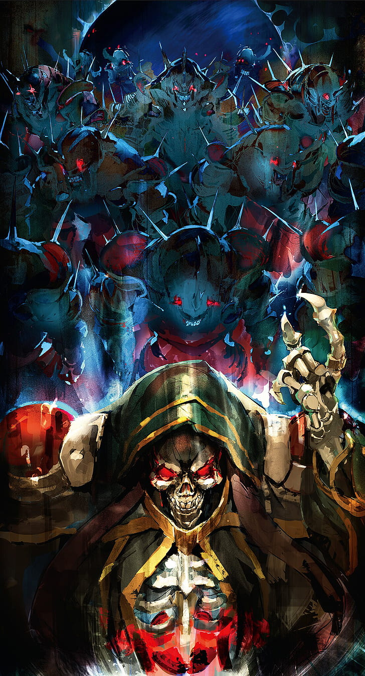 Overlord Anime Wallpaper 1920x1080 : overlord, anime, wallpaper, 1920x1080, Wallpaper:, Overlord, (anime),, Gown,, Skull,, Creature, Wallpaper, Flare