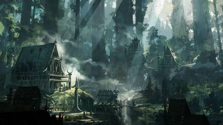Fantasy Village Art