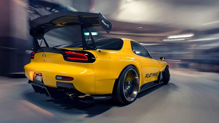 85 lexus wallpapers (laptop full hd 1080p) 1920x1080 resolution. Hd Wallpaper Mazda Rx 7 Fd Jdm Japanese Cars Yellow Cars Sports Car Wallpaper Flare