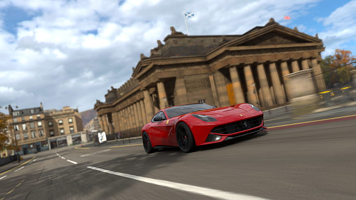 Enterprising forza fans on gtplanet's for. Hd Wallpaper Forza Horizon 4 Forza Games Video Games Red Cars Screen Shot Wallpaper Flare
