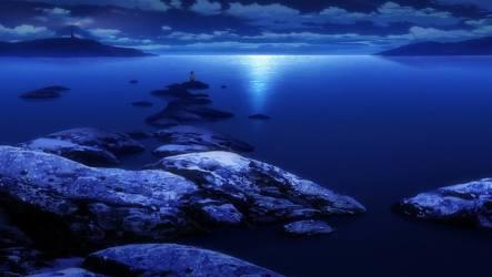 HD wallpaper: photo of ocean during night time Infinite Stratos anime dark Wallpaper Flare