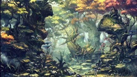 HD wallpaper: Fantasy Forest Elf Light Wallpaper Flare