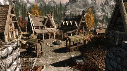 HD wallpaper: The Elder Scrolls V: Skyrim ENB Whiterun fantasy town Wallpaper Flare