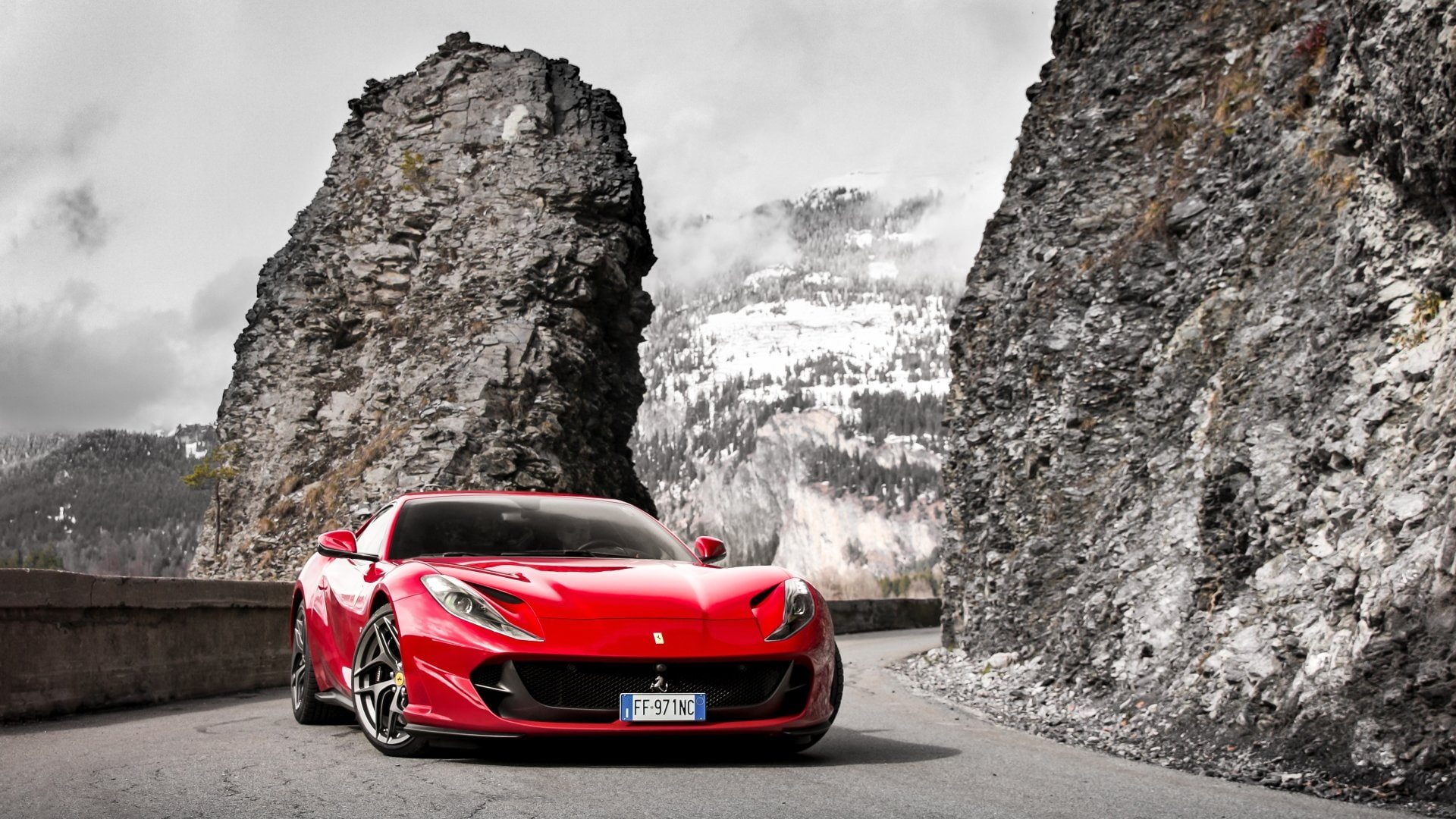 Hd Wallpaper Ferrari Ferrari 812 Superfast Car Red Car Sport