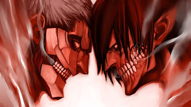 Hd Wallpaper Anime Attack On Titan Eren Yeager Reiner Braun Wallpaper Flare