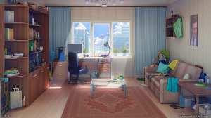 anime living 2d rooms backgrounds interior ruang tamu bildschirmhintergrund manga sofa wallpaperflare 1080p artstation desktop grafik wallpapers scenery woonkamers wallhere