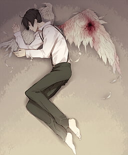 Angel Anime Wings : angel, anime, wings, Wallpaper:, Days,, Avilio, Bruno,, Wings,, Fallen, Angel,, Anime,, Length, Wallpaper, Flare