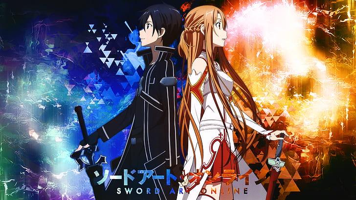 HD wallpaper: anime, anime boys, anime girls, sword, Sword Art ...