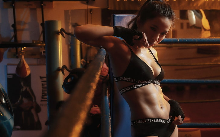 Hd Wallpaper Abs Asian Belly Body Boxing Fitness Girl Gym Model Wallpaper Flare
