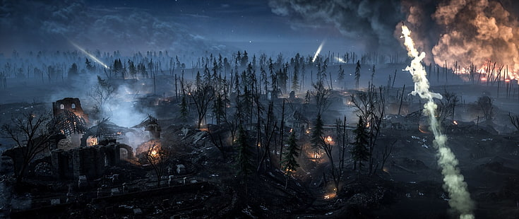A lovingly curated selection of 20 free hd call of duty: Hd Wallpaper Battlefield Battlefield 1 Landscape Night Warzone Wallpaper Flare