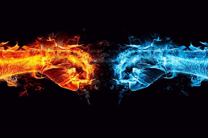 hd wallpaper water flames