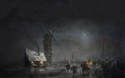 fantasy medieval mill knights killer clown backgrounds hd wallpapers tapety stary noc desktop dark rycerze wallhaven cc