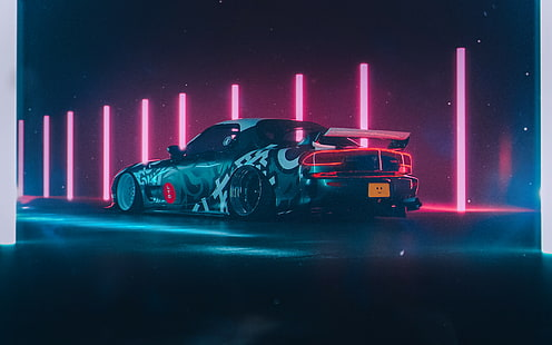 All of the aesthetic wallpapers bellow have a minimum hd resolution (or 1920x1080 for the tech guys) and are easily downloadable by clicking the image and saving it. Hd Wallpaper Mazda Rx 7 Fd Jdm Japanese Cars Yellow Cars Sports Car Wallpaper Flare