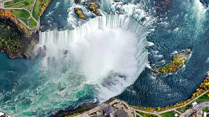 HD wallpaper: Niagara Falls The Canada And Us Border Between The Canadian  Province Of Ontario And The Us State Of New York View From The Air  Landscape Nature 2560×1440 | Wallpaper Flare