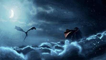 HD wallpaper: artwork fantasy art dragon Game of Thrones Moon crescent moon Wallpaper Flare