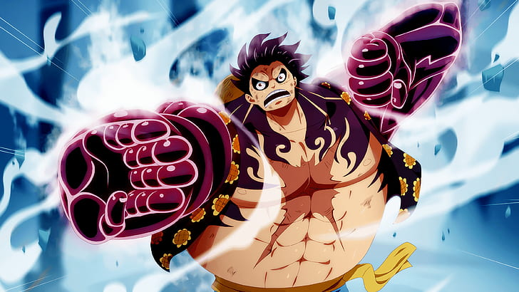 See the handpicked luffy gear 4 wallpapers images and share with your frends and social sites. Hd Wallpaper One Piece Gear Fourth Monkey D Luffy Wallpaper Flare