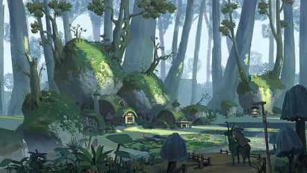 HD wallpaper: Pixel Cat fantasy art digital art swamp forest village Wallpaper Flare