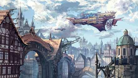 HD wallpaper: Figure The city Building Fantasy Art Fiction Concept Art Wallpaper Flare