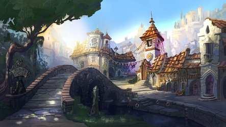 HD wallpaper: Artistic Fantasy Town Wallpaper Flare