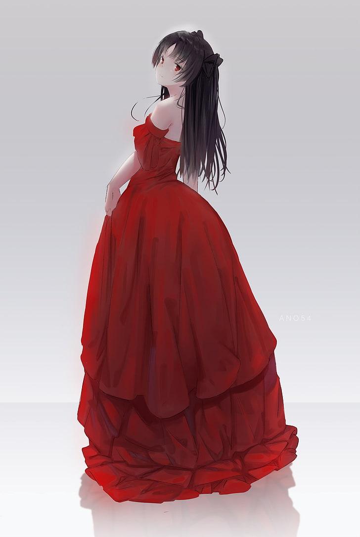 Anime Girl In Red Dress : anime, dress, Wallpaper:, Series,, Anime, Girls,, Tohsaka, Dress,, Wallpaper, Flare