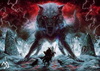 HD wallpaper: fantasy art creature artwork Odin Sleipnir Fenrir wolf Wallpaper Flare