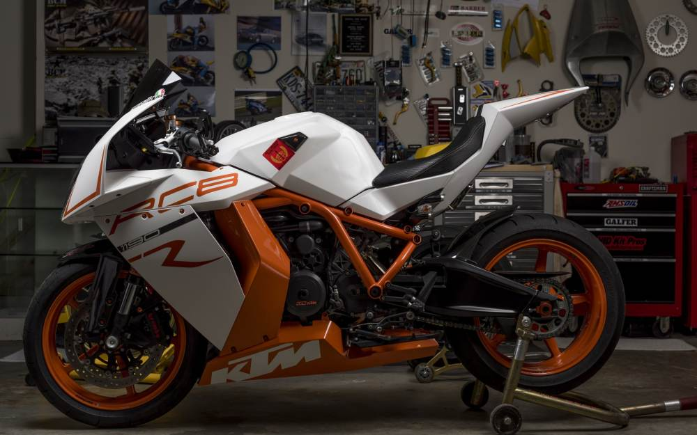 medium resolution of ktm rc8r white orange and black rc8 ktm sportbike garage motorcycle design