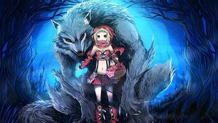 anime wolf werewolf eyes hood riding little hd hoodie wolves