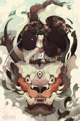 HD wallpaper: Japanese dragon samurai kimono fantasy art women face paint Wallpaper Flare