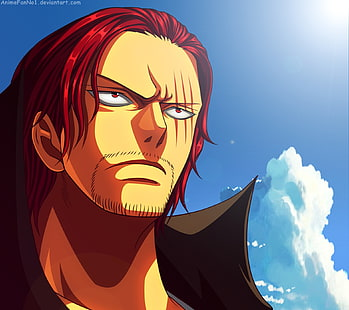 He is without a doubt one of the most mysterious characters in the series so far. Hd Wallpaper One Piece Shanks Redhead Scars Sky Sunlight Nature Art And Craft Wallpaper Flare