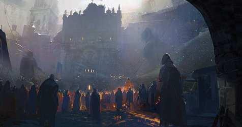 Medieval Fantasy City Art