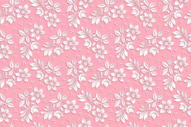 HD wallpaper: white petaled flowers wallpaper background pink pattern the volume Wallpaper Flare