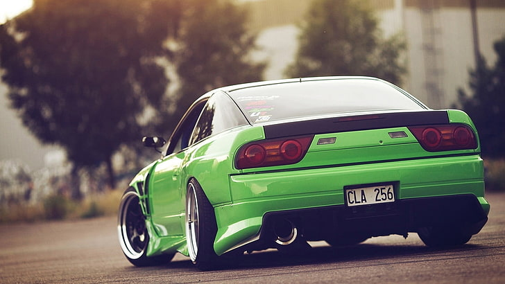 jdm wallpapers hd (69 wallpapers). Hd Wallpaper Green Sports Coupe Nissan 240sx Jdm Car Stance Green Cars Wallpaper Flare
