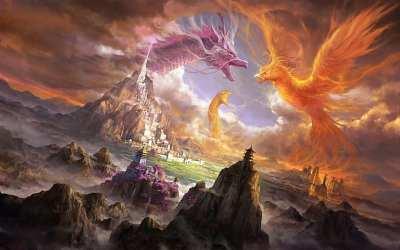 HD wallpaper: phoenix digital art dragon Wallpaper Flare