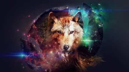 HD wallpaper: wolf artwork fantasy art fire space stars planet science fiction Wallpaper Flare