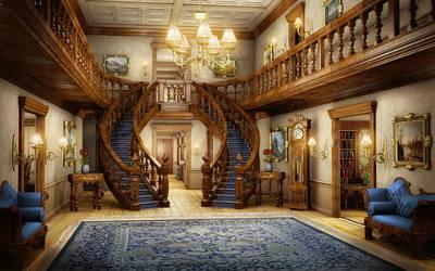 HD wallpaper: mansion house hallway painting light carpet interior art Wallpaper Flare