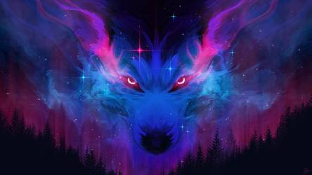 HD wallpaper: Fantasy Animals Wolf Night Stars Wallpaper Flare