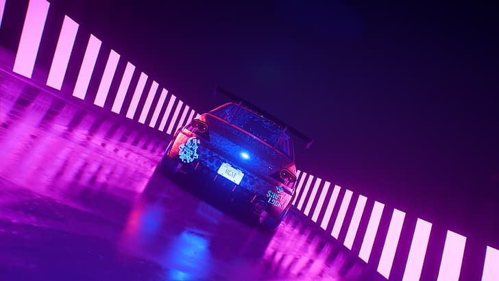 Lamborghini huracan evo 2021 8k. Hd Wallpaper Need For Speed Heat Car Neon Mitsubishi Lancer Evo X Wallpaper Flare