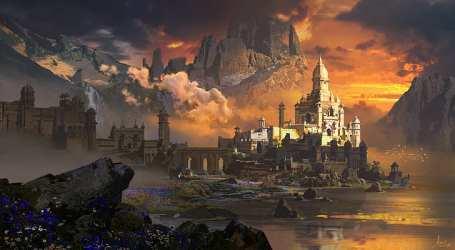 HD wallpaper: artwork castle landscape sunset concept art digital fantasy city Wallpaper Flare