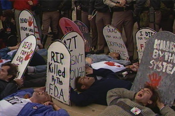 ACT UP protest of the FDA in 1988 via ACTUPny.org