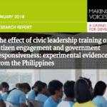 The Effect of Civic Leadership Training on Citizen Engagement and Government Responsiveness: Experimental Evidence from the Philippines (Making All Voices Count research report, 2018)