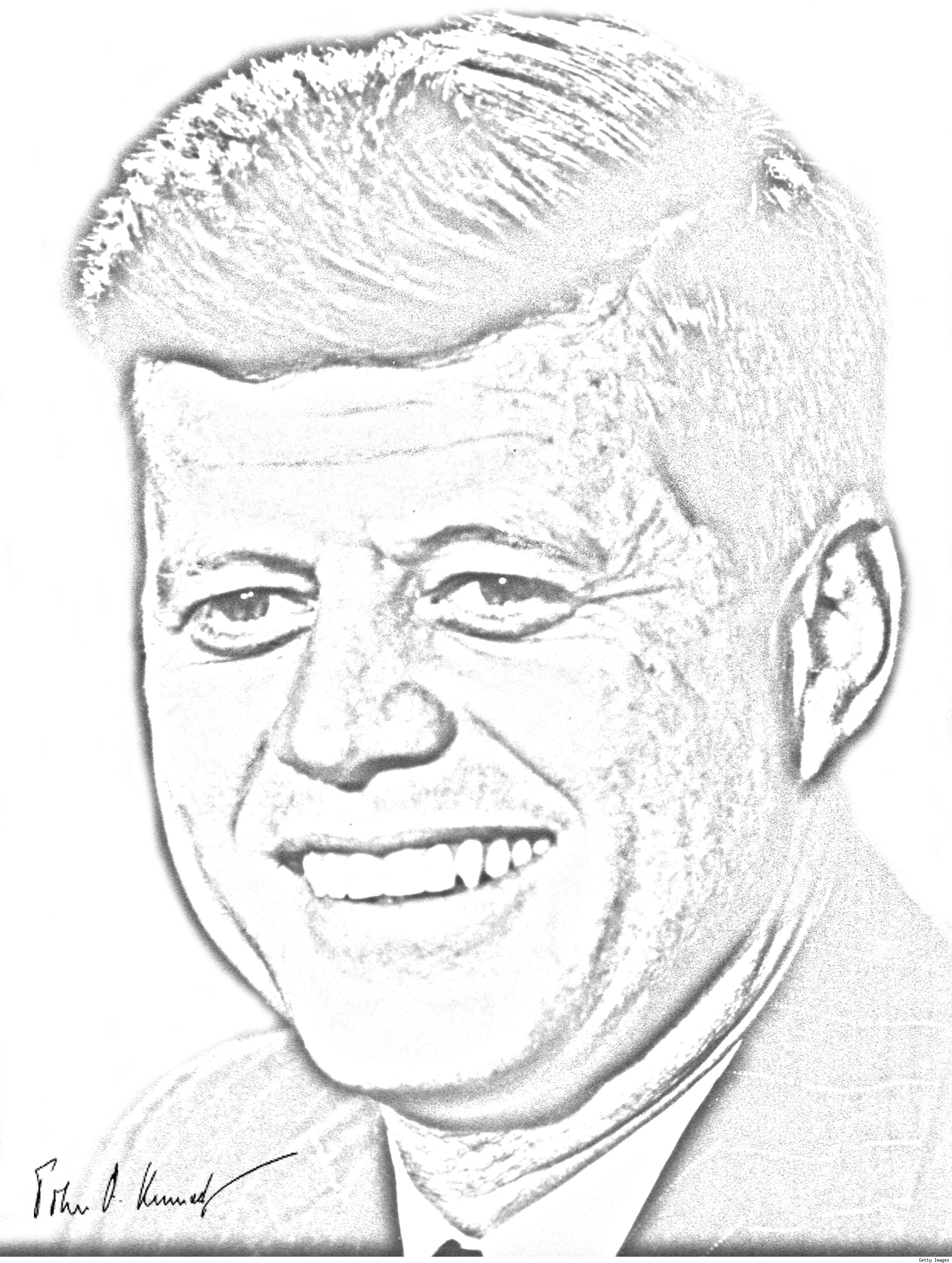 Related Keywords & Suggestions for jfk pencil drawings