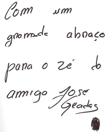 Autografo José Geadas