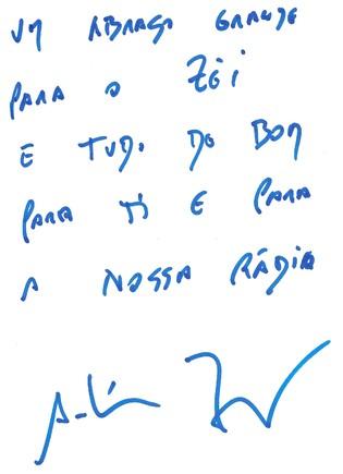 Autografo Antonio Zambujo