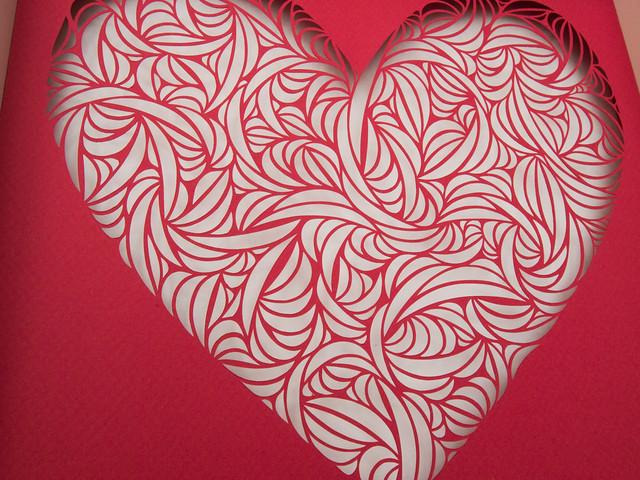 Heart papercut