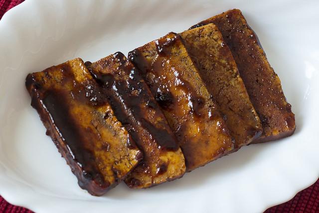 Bacon vegano con tofu