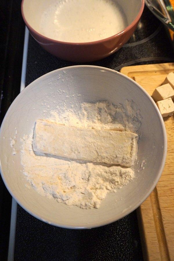 Tofu in Flour | thelittleredspoon.com