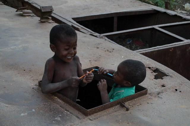 Malagasy Boys with Pixie Sticks