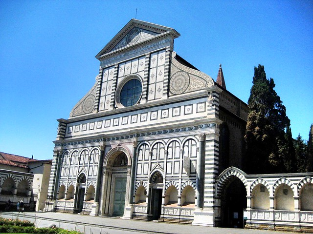 Santa Maria Novella, outside: this was the first stop in our FLorence one day itinerary